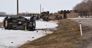 Highway 845 and 512 crash